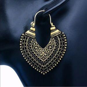 Boho Lock Drop Earrings